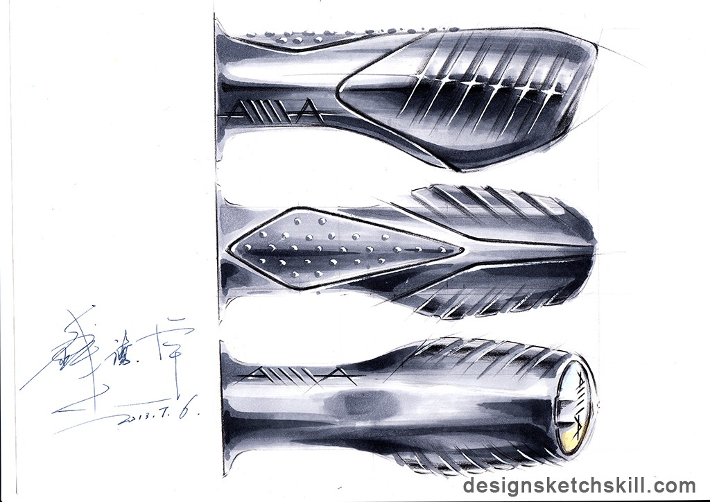 电动车 零部件手绘设计-工业设计快题-银火网-室内与