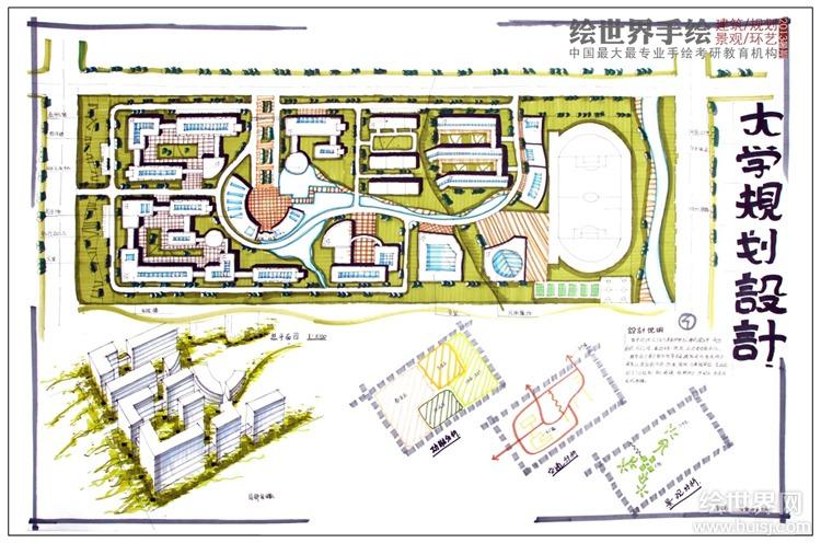 东南大学校园规划快题设计.快题设计作品
