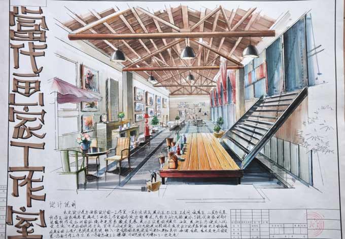 原创作品:室内快题设计-室内设计快题-银火网-室内与